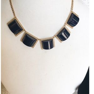 Blue fashion necklace with earrings